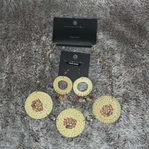 Necklace and earrings New York & Company